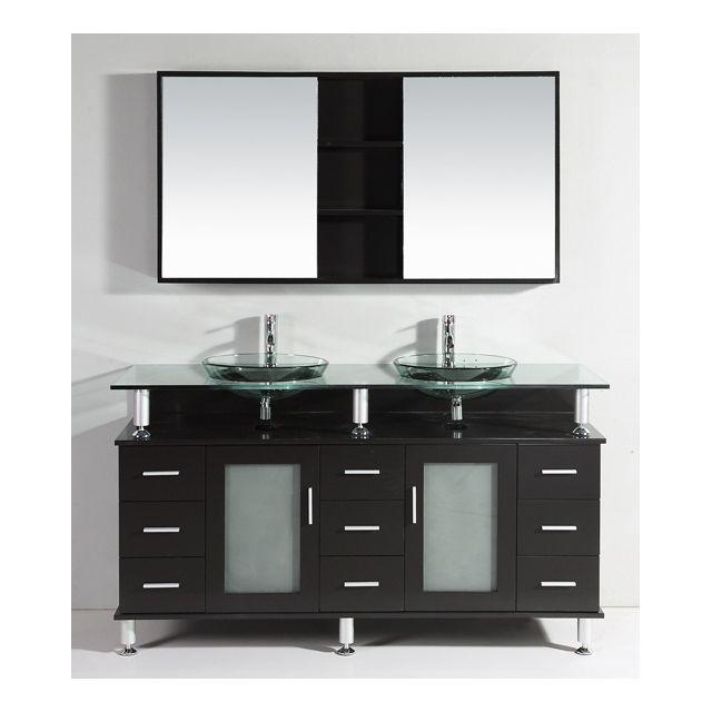 design et prix magnifique meuble salle de bain complet mama ch ne meuble 2 vasques 2. Black Bedroom Furniture Sets. Home Design Ideas