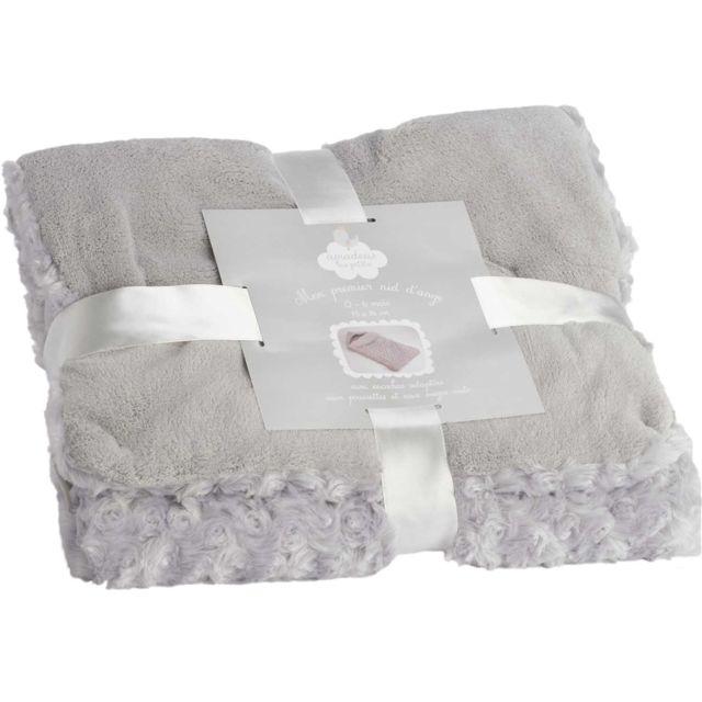 amadeus nid d 39 ange doudou 0 6 mois gris perle pas cher. Black Bedroom Furniture Sets. Home Design Ideas
