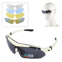 Wewoo - Pour Tir   Cyclisme   blanc Ski   Golf Uv400 Protection Lunettes de  soleil 30b3cdb273fc