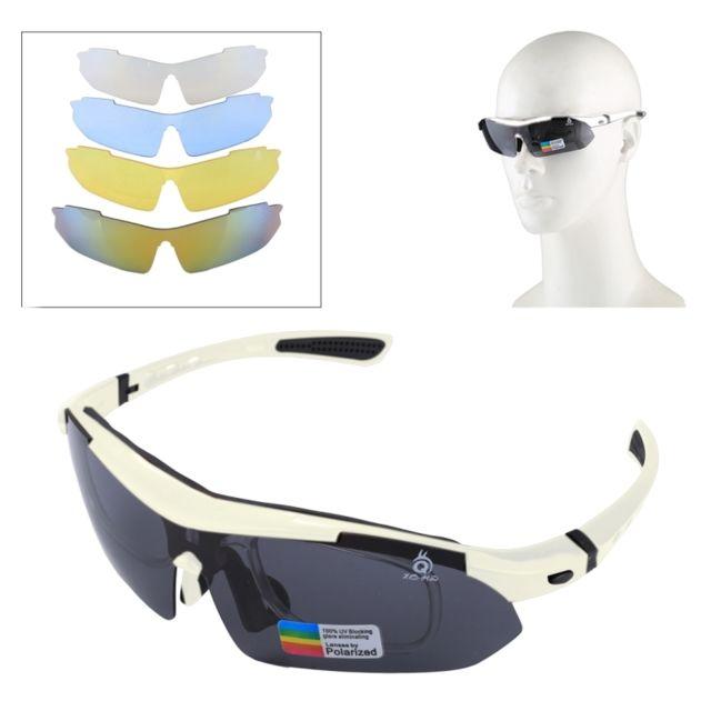 Wewoo - Pour Tir   Cyclisme   blanc Ski   Golf Uv400 Protection Lunettes de  soleil 3c874c741080