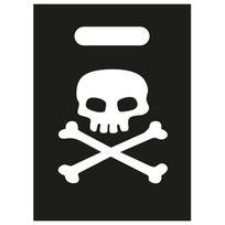 Creative - Pochettes à cadeaux pirates tête de mort x8