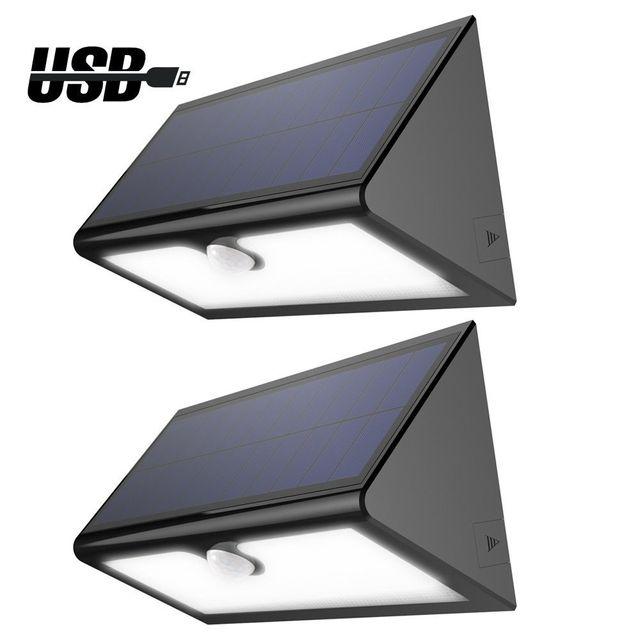 Eclairage Escalier Sans Fil alpexe - lampe solaire sans fil 46 led 600 lumens, eclairage