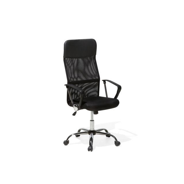 Chaise de bureau en cuir noir DESIGN noir