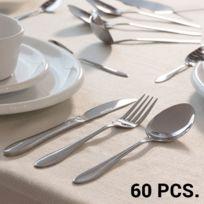 Marque Generique - Lot de 60 pièces de couverts en acier inoxydable avec organisateur - Ménagère fourchette couteau