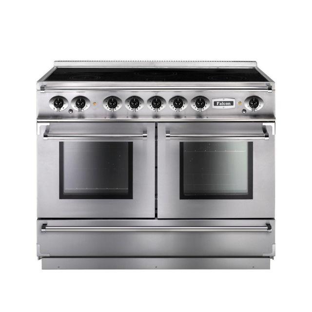 Falcon Cuisiniere 110CM Fcon1092EIS Induction 5FOYERS 2 Fours Elec Inox Chrome