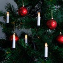 2 STARS - Guirlande 16 bougies LED pour sapin