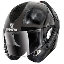 Shark - casque intégral modulable en jet Evoline Pro Carbon Dakfor Das moto scooter carbone mat brillant L