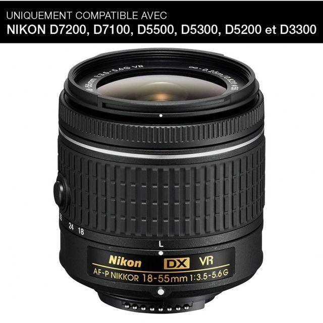 Nikon Objectif Af-p Dx Nikkor 18-55 mm f/3.5-5.6G Vr
