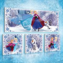 Bebe Gavroche - Tableau Disney La reine des neiges Canvas prints / pictures set S15 - 1x80x30cm /R30X18; 3x25,8x24,80cm /R18X18
