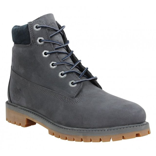 5cb758fb214 Timberland - 6in Premium velours Femme-40-Full Gris - pas cher Achat   Vente  Boots femme - RueDuCommerce