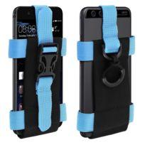 Avizar - Brassard Sport Smartphone Taille 175 x 140mm Sangle Réglable Noir et Bleu