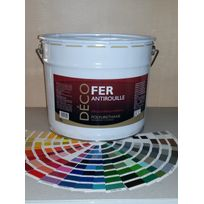 Icopeint - Peinture Glycéro Satin - Deco Fer - Violet rouge - Ral 4002 - 10L