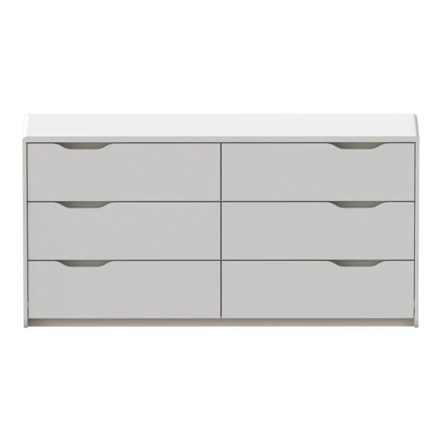 alin a look commode blanche laqu e 6 tiroirs pas cher. Black Bedroom Furniture Sets. Home Design Ideas