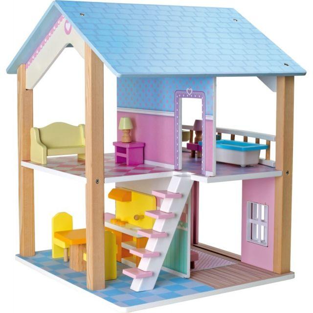 Small Foot Company Maison de poupée à 2 étages, tournante \