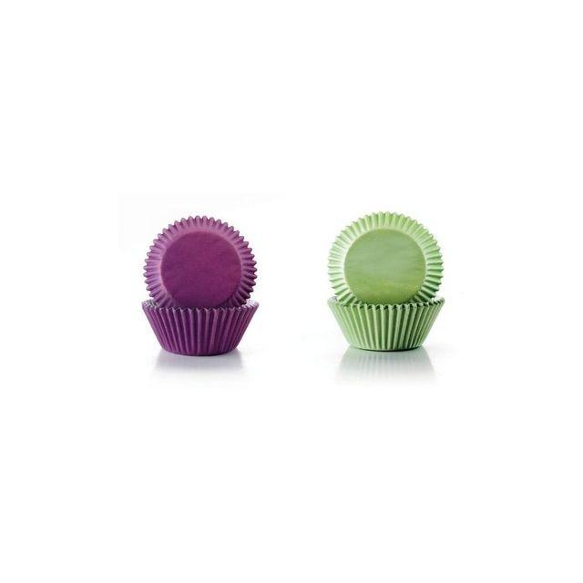 Ibili Capsule Cupcake Violette+VERTE 50+50 pc