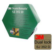 3M - Ruban adhésif caoutchouc Dual Lock Sj352D