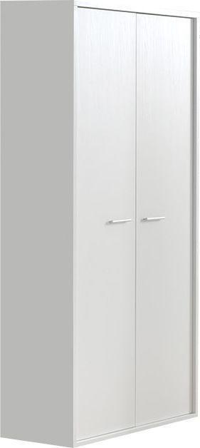 Comforium Armoire moderne à 2 portes battantes 104 cm pour enfant coloris blanc