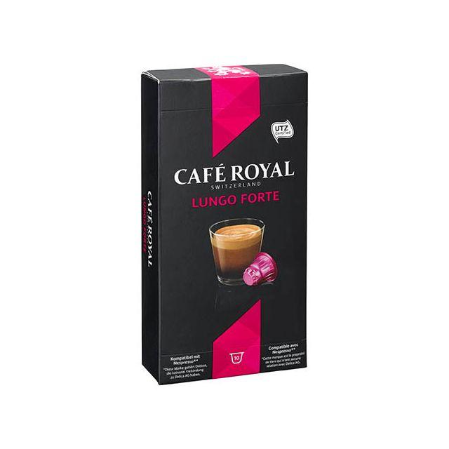CafÉ Royal Capsules de café Lungo Forte - Boîte de 10