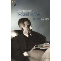 Confluences - Roland Barthes, un été Urt 1978