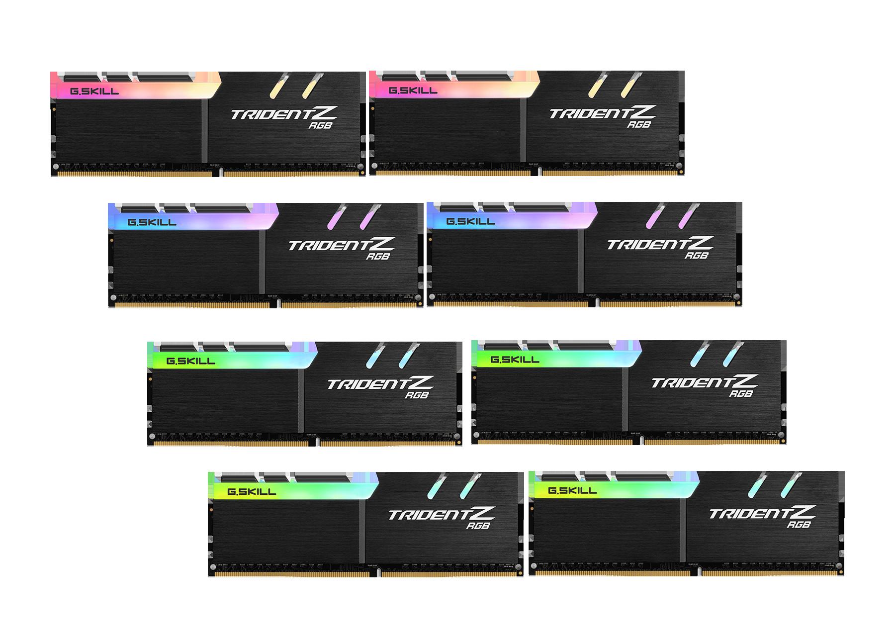 Trident Z RGB 128 Go (8x16 Go) 2933 Mhz CL16 pour AMD RYZEN