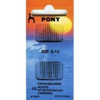 Pony - Aiguilles À Coudre-main Avec Crochets/MODISTENNADELN GoldÖHR Taille 5/10