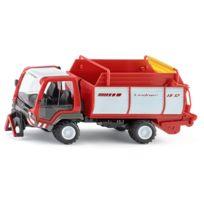 Siku - Modèle réduit en métal : Camion Lindner Unitrac avec wagon de chargement