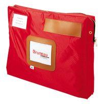 Alba - Sacoche courrier à soufflet 30 x 42 cm rouge