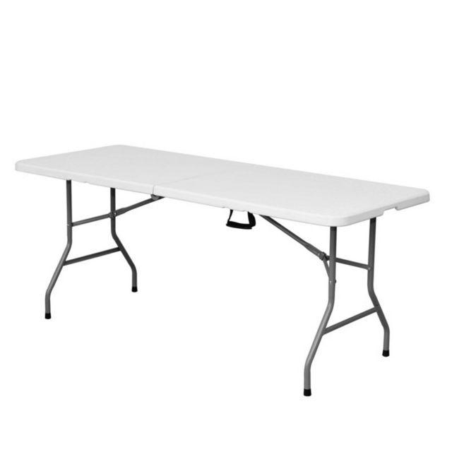 Ma Maison Mes Tendances - Table de jardin pliante 180cm plastique ...