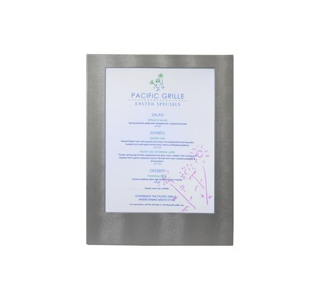 Securit Carte Menu Led Coloris argent 1 A4