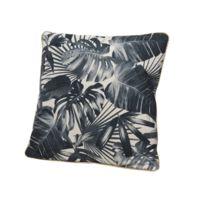 Decoris - Coussin déhoussable carré en polyester motif jungle tropical 45x45cm Jungle - Motif 2