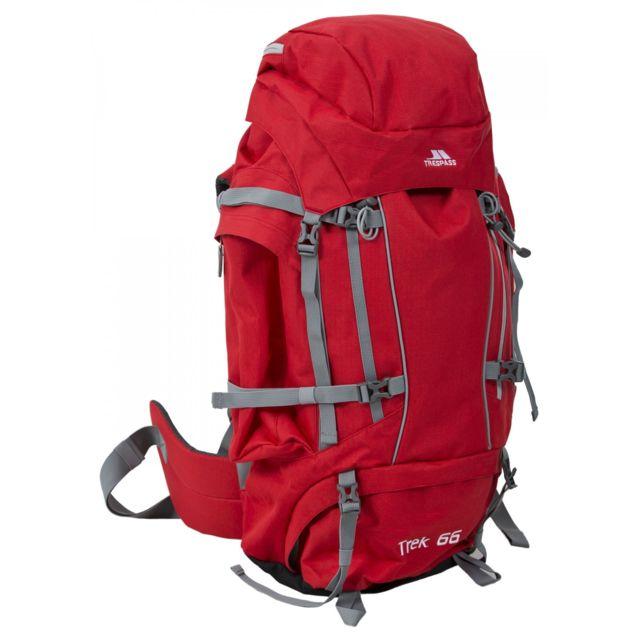 Trespass Trek 66 - Sac à dos de randonnée 66 litres, Taille unique, Ton rouge Uttp362