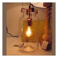 Millumine - Lampe de salon à poser en bocal verre Confiture
