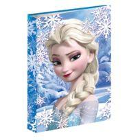 La Reine Des Neiges - Classeur A4 Frozen bleu 34 Cm