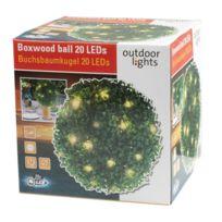 Maison Futée - Boule de buis 26,5 cm avec guirlande lumineuse solaire 20 Led