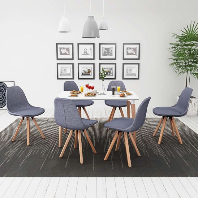 gris Ensembles et pcs et de chaise Blanc manger à clair 7 La table Ensemble Moderne Havane de categorie meubles uK3TlF1cJ