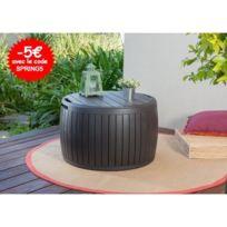 Châlet & Jardin - Coffre de jardin resine tonneau 132 L aspect bois
