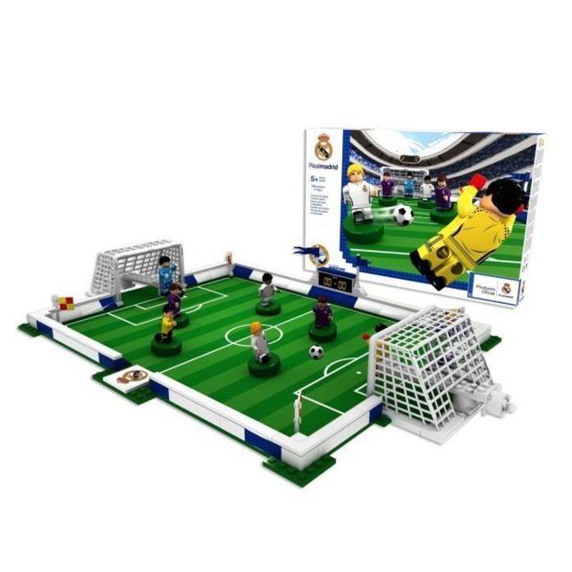 JEU D'ASSEMBLAGE - JEU DE CONSTRUCTION - JEU DE MANIPULATION NANOSTAR Terrain de foot a construire Real Madrid FA