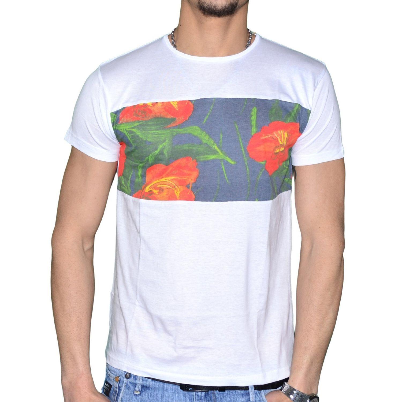 5c82468b516 KAMORA- En Solde T Shirt Manches Courtes - Homme - Monoi - Blanc