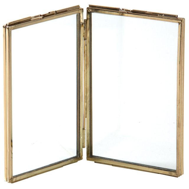 AUBRY GASPARD - Double cadre photo en laiton