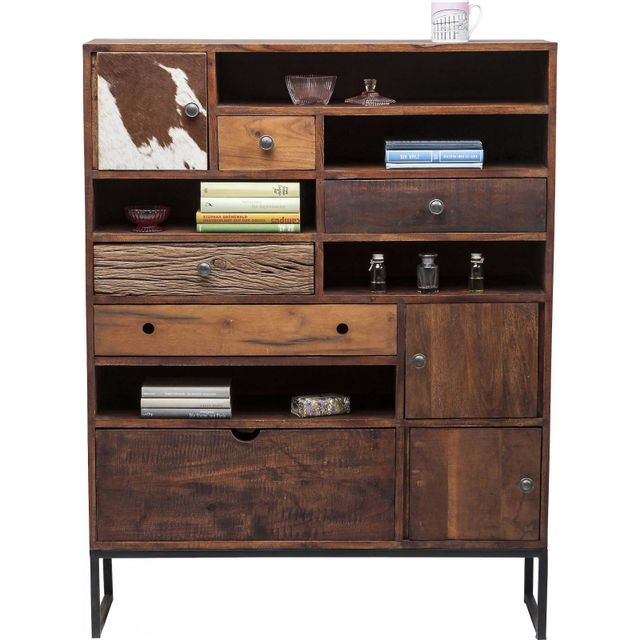 Karedesign Commode haute Texas 3 portes 5 tiroirs Kare Design