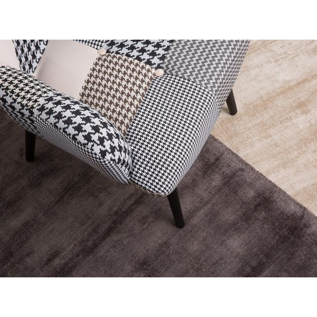 Beliani tapis rectangulaire tapis en viscose beige 80x150 cm gesi