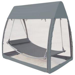 les essentiels by dlm hamac suspendu avec moustiquaire en polyester pas cher achat vente. Black Bedroom Furniture Sets. Home Design Ideas