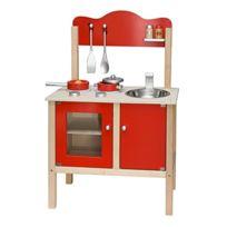 Viga Toys - 1065 - Jeu D'IMITATION - Cuisine Noble - Rouge