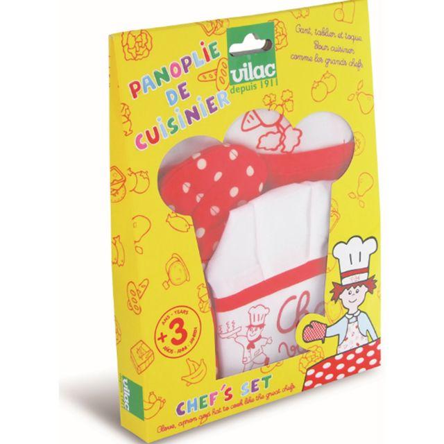 Vilac - Panoplie de cuisinier en tissu