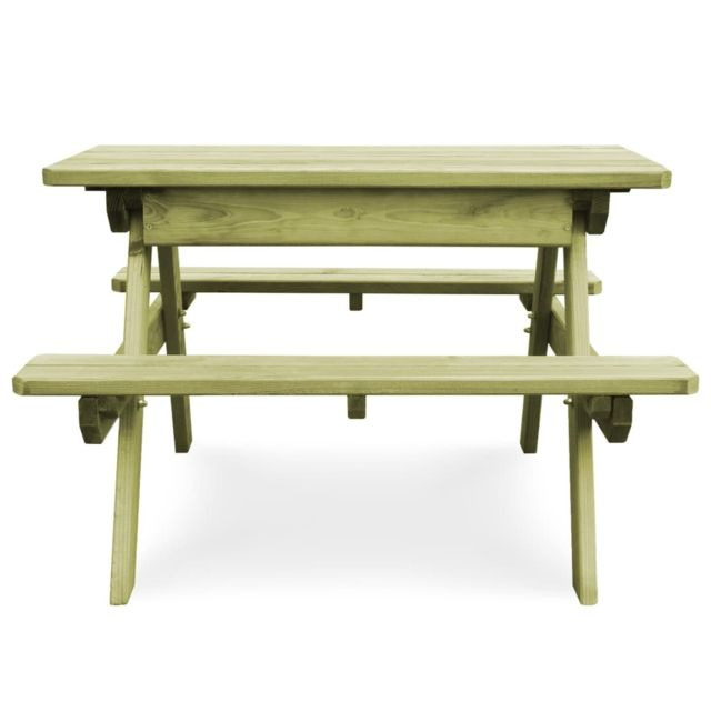 Meubles De Jardin Selection Tokyo Icaverne Table De Pique Nique Avec Bancs Bois De Pin Imprégné Fsc