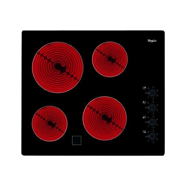 Whirlpool table de cuisson vitrocéramique 4 feux 6200w noir - akm9010ne