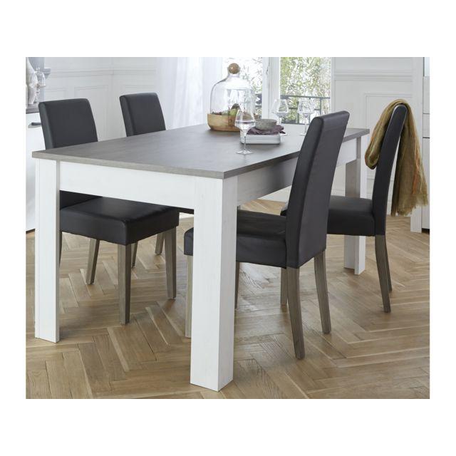 HABITAT ET JARDIN Table repas Marquis - 90 x 170 x 77,2 cm - Coloris Pin Andersen