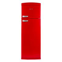 CLAYTON - Réfrigérateur 2 portes - CL2PRETRORED - Rouge