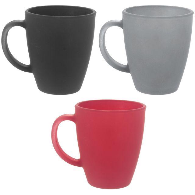 promobo set lot ensemble 3 mugs tasses a caf en verre double paroi soft a inscrire noir pas. Black Bedroom Furniture Sets. Home Design Ideas