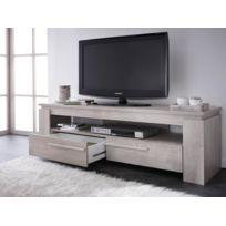 Banc TV Segur - 140 x 42 x 47 cm - Chêne champagne